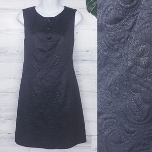 Tommy Hilfiger Black Floral Embossed Shift Dress